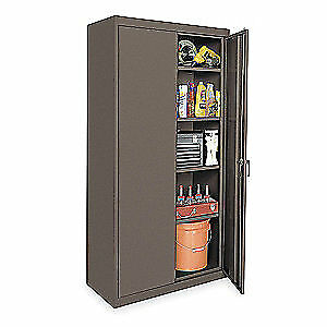 Grainger Approved Steel Storage Cabinet gray 72 In H 36 In W 1uez4