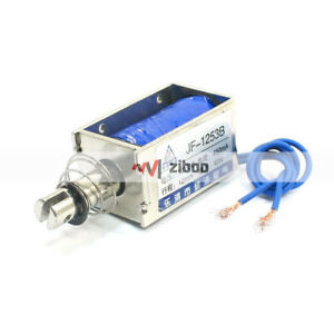 One Pieces Jf 1253b Dc 12v 450ma 42n 10mm Pull Push Type Solenoid Electromagnet