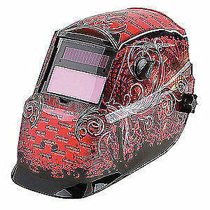 Lincoln Electric Welding Helmet shade 9 To 13 red black K2933 1 Black red