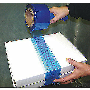 Grainger Approved Hand Stretch Wrap blue 1000 Ft 3in W pk4 15a919 Blue