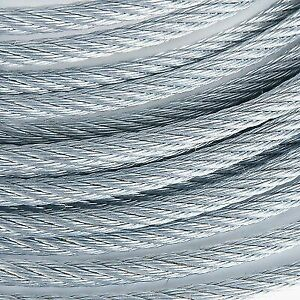 1 Galvanized Wire Rope Steel Cable Iwrc 6x25 400 Feet