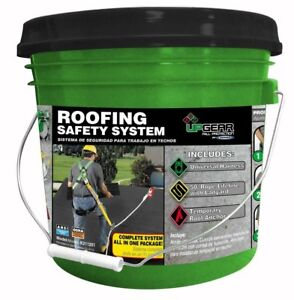 Roofing Safety System Fall Protection Kit House Roof Renovation Anchor Safe