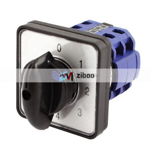 8 Terminals 4 Position Cam Combination Changeover Switch Latching Ac 660v 20a