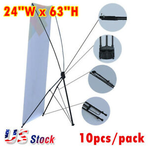 Us 10pcs 24 w X 63 h Economy Aluminum Foot Tripod X Banner Stand stand Only