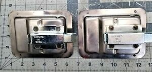 2 Trailer Paddle Door Lock Latch Handle Stainless Steel Rv Truck Tool Box A1f