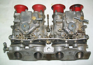 Fiat 124 131 Solex 40mm Side Draft Carbs And Manifold Used Great Condition