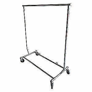 Grainger Approved Steel Garment Rack Folding 5chv8 Gray