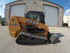 Reduced Case Tr320 Skid Steer W Cab Air Conditioner Heat Forks And Bucket