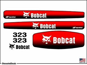 New Replacement 323 Excavator Decal Set Mini Ex Loader Usa Made