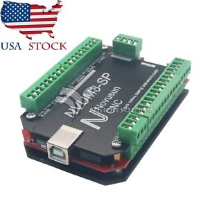 Usbmach3 Interface Board Card 3 Axis Controller Cnc 100khz For Stepper Motor Us
