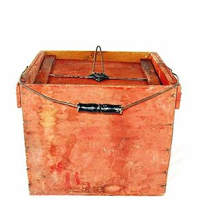 Vintage Antique Wood Farmers Friend Egg Carrier Advertising Crate Late 1800 S