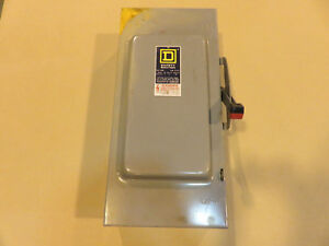 Square D 100amp Fusible Safety Switch H323n
