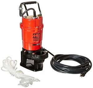 Electric Trash Pump Submersible Outdoor Single Phase Motor Abrasion Resistant