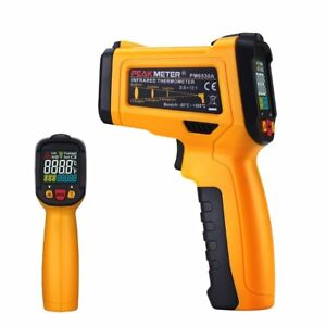 Digital Infrared Thermometer Peakmeter Pm6530a Laser Ir Temperature Gun Lcd For