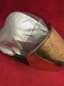 Cairns Fire Fighter Helmet Turnout Gear White W cover Visor Unit 1