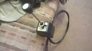 Western Snow Plow Joy Stick Control Black Cables For Cable Pump Snowplow Used 2