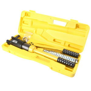 16 Ton Hydraulic Wire Battery Cable Lug Terminal Crimper Crimping Tool W dies