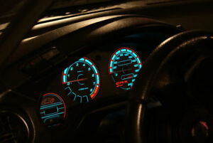 Honda Civic Del Sol Indiglo Glow Gauges Plasma Dial Overlays Illuminated Kmh Mph
