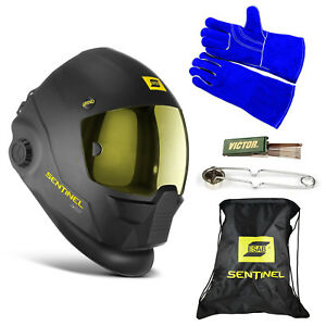 Esab Sentinel A50 Automatic Helmet Bag Welding Glove Striker