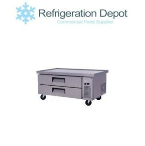 Migali C cb52 60 Refrigerated Chef Base With 60 Top Two Drawer 10 4 Cu ft