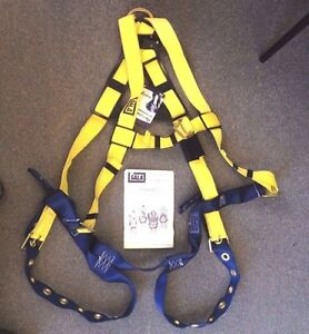 New Dbi Body Safety Harness Delta 1102526 Work Crew Fall Protection Size U m xl