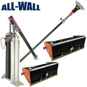 Drywall Master Pro Flat Box 10 12 Finish Set With 2 Boxes Handle Pump Filler