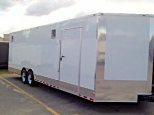 8 5x28 V nose Enclosed Race Car Trailer Hauler Screwless Exterior