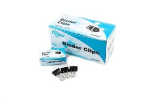 72 Pcs 15mm 1 2 Binder Clips Small Size Full Metal Paper Binding Office 6 Doz