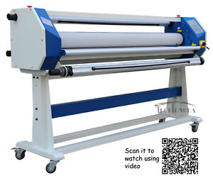 63in 1600mm Stand Frame Full auto Single Side Wide Format Hot cold Laminator