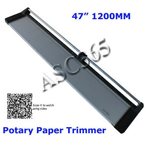 New Rotary Paper Trimmer 47in 1200mm Rotary Paper Cutter 1blade Us Shipping