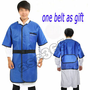 New 0 35mmpb X ray Protection Lead Apron Shield Vest Half Sleeves With Belt