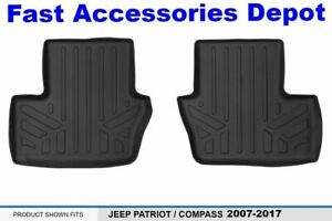 Maxfloormat Floor Mats 2nd Row Black For 2007 2012 Jeep Patriot Compass Old Bo