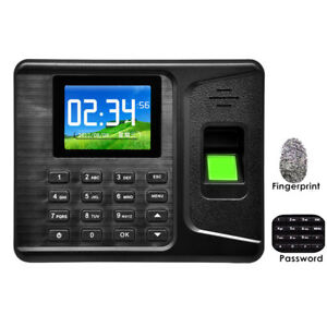 Portable 2 8biometric Fingerprint Time Recorder Clock Attendance Employee Salary