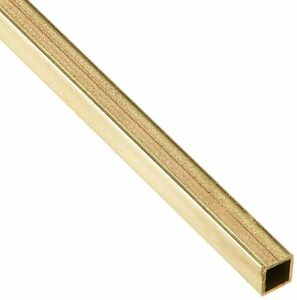 K S Precision Metals 8151 0 12 Od X 12 L In Square Brass Tube 10 Pack