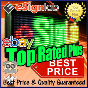 Hybrid Led Sign Tri Color Rgy Programmable Outdoor Message Display 19 X 69