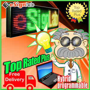 Hybrid Led 15 X 40 Sign 3 Color Rgy Outdoor Programmable Scrolling Message