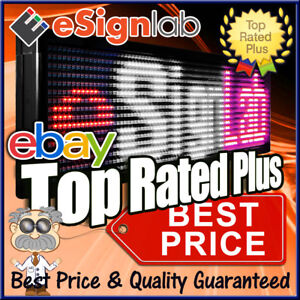 Hybrid Led Sign 3 Color Rwp Programmable Outdoor Message Display 19 X 69