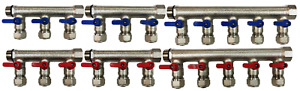 3 4 11 loops Ball Valve Brass Pex Manifold For 1 2 Pex