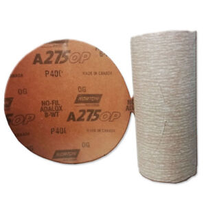 Norton A275 Champagne 6 Psa Disc Roll Sandpaper Grade P400b 100 Self Stick Disk