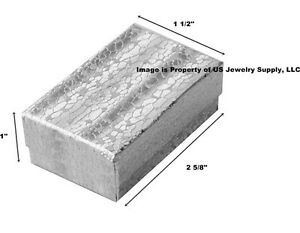 Wholesale Lot 1000 Silver Cotton Fill Jewelry Display Packaging Gift Boxes 2 5 8