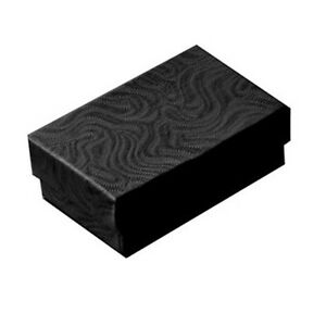Wholesale 1000 Black Swirl Cotton Filled Jewelry Gift Boxes 2 5 8 X 1 1 2 X 1