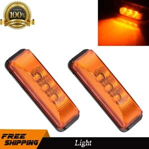 2x 15 Led 6 Amber Marker Turn Signal Light For Freightliner Century Columbia