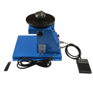 Semi automatic 10kg 110v Welding Positioner Turntable With 65mm Chuck From Usa