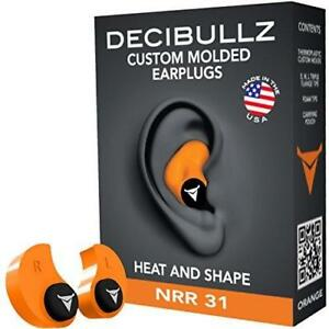 Decibullz Custom Molded Earplugs 31db Highest Nrr Comfortable Hearing