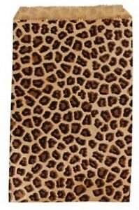 500 Leopard Print Merchandise Retail Party Favor Paper Gift Bags 6 X 9 Tall
