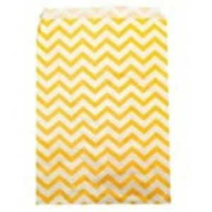 500 Yellow Chevron Merchandise Retail Paper Party Favor Gift Bags 6 X 9 Tall