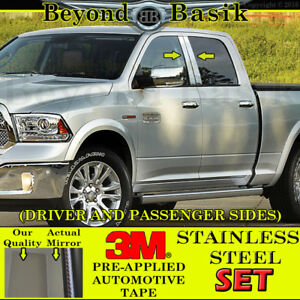 For 2009 2018 Dodge Ram 1500 2010 2018 2500 Stainless Steel Pillar Posts Trims