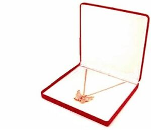 Lot Of 6 Red Velvet Necklace Pendant Jewelry Display Packaging Gift Boxes Lg