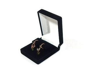 12 Drop Dangle Large Earring Black Velvet Gift Boxes Jewelry Display