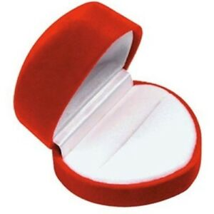 Wholesale Lot Of 144 Red Velvet Heart Ring Packaging Display Gift Boxes